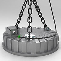 Circular magnet for scrap recycling