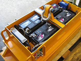 Maintenance work on a BMM battery magnet