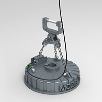 Magnet with intermediate plate and singel chains